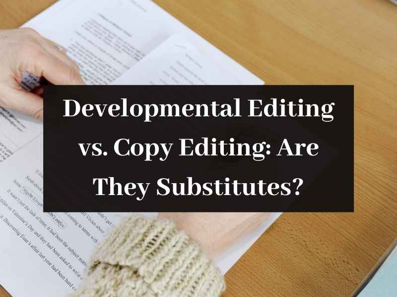 Developmental Editing vs Copy Editing Are They Substitutes 1